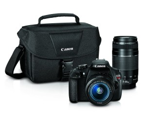 Canon EOS Rebel T5 Digital SLR Camera with EF-S 18-55mm IS II + EF 75-300mm f4-5.6 III Bundle
