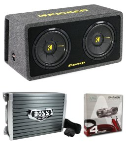 Kicker 40DCWS122 12 1200W Car Audio Subwoofer Sub Enclosure+Mono Amplifier Amp