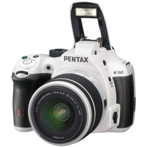 Pentax K-50 16MP Digital SLR Camera with 3-Inch LCD - Body Only (White)