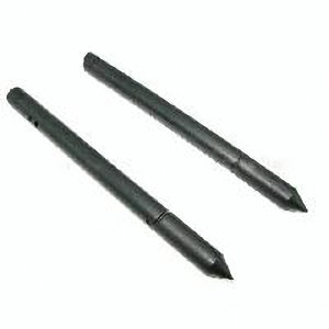 P&o 2 In 1 Black Touch Screen Soft Rubber Stylus Pen W Carbon Core Pencil For Apple Ipad