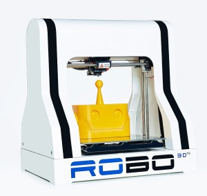 ROBO 3D R1 Plus Fully Assembled 3D Printer, 8 x 9 x 10 Maximum Build Dimensions, 100 Micron Maximum Resolution, 1.75-mm ABS, PLA, T-Glase