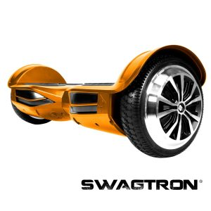 Swagtron by Swagway T3 Hands-Free Smart Balance Scooter--Now w SentryShield for Added Protection Against Battery Defect or External Damages ... (Gold)