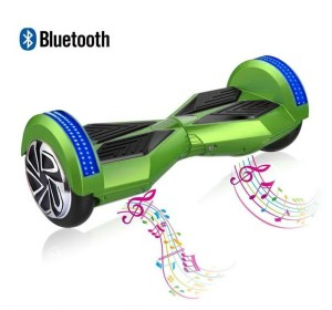 Padgene 8 Two Wheels Smart Self Balancing Scooter With Bluetooth Speaker and LED Lights, Electric Drifting Skateboard