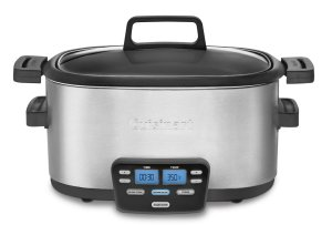 Cuisinart MSC-600 3-In-1 Cook Central 6-Quart Multi-Cooker Slow Cooker, BrownSaute, Steamer