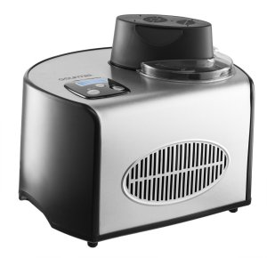 Gourmia GSI200 Stainless Steel 1.6 Qt SleekServe Automatic Ice Cream Maker - Gelato, Sorbet and Frozen Yogurt Machine - Built-in Compressor and LCD Digital Display
