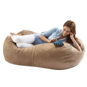 Jaxx Sofa Saxx 4-foot Bean Bag Lounger, Camel Microsuede