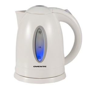 Ovente KP72W Cordless Electric Kettle, 1.7-Liter, White
