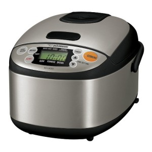 Zojirushi NS-LAC05XT Micom 3-Cup Rice Cooker and Warmer, Black and Stainless Steel