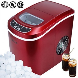 DELLA© Portable Electric Ice Maker Machine Producing 26 Lbs. Of Ice Per Day- Red
