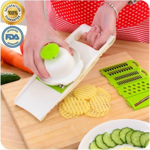 KINGMAK Creative Multi-Function Kitchen Tool Vegetables Fruits Chopper Shredder Cut Slicer set