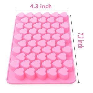 Xcellent Global Mini Heart Shape Silicone Ice Cube Chocolate Mold Pink M-HG011