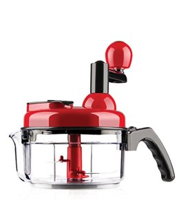 ZWEISSEN All-In-One Multi Set Manual Food Processor, Whisker, Salad Spinner, Quick Chopper, & Salsa Maker
