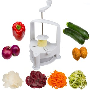 Brieftons Vertico Spiralizer Vegetable Spiral Slicer, Fresh Veggie Spaghetti & Pasta Maker for Low Carb Healthy Vegetable Meals