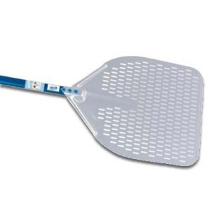 15-inch Rectangular Perforated Pizza Peel - 47-inch Handle