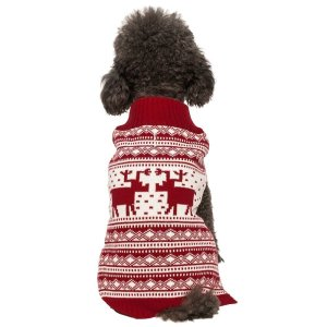 Blueberry Pet Holiday Festive Christmas Reindeer Dog Sweater