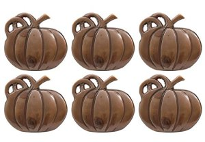 DII Napkin Rings for Dinners, Parties, Everyday, for Dinners, Parties, Everyday, Set of 6, Pumpkin