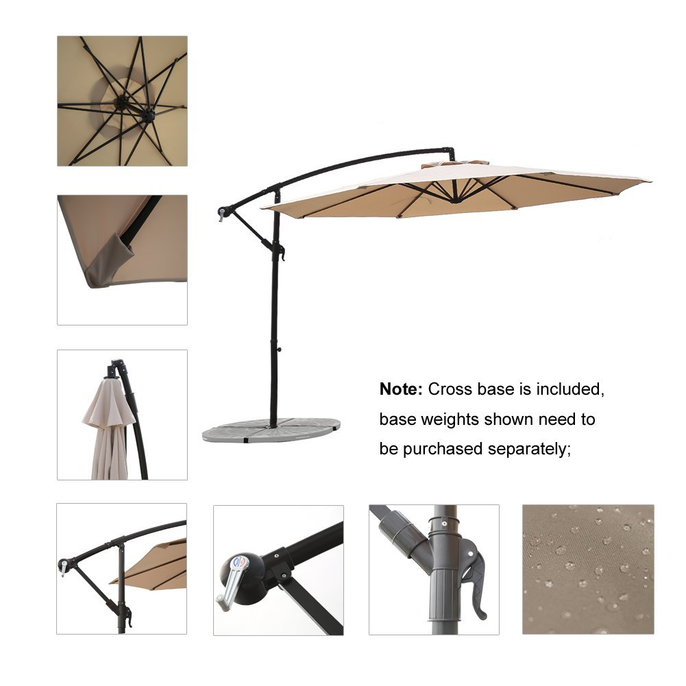 C Hopetree 10u0027 Aluminum Frame Patio Offset Umbrella Has Made Its List Of  Our Top 10 Best Offset Patio Umbrellas. This Is Patio Umbrella With 10 Feet  Solid ...