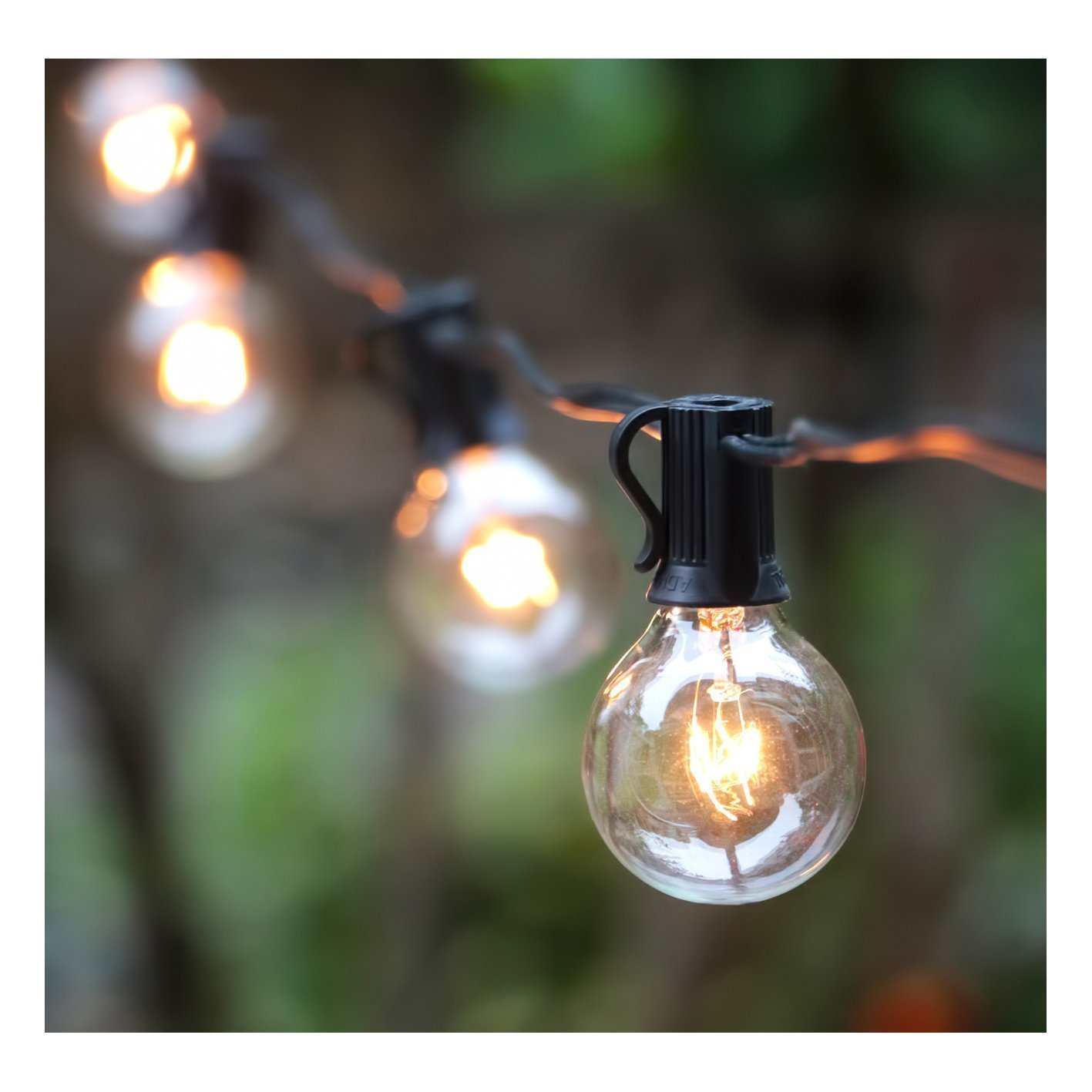 10 brightown 25ft g40 globe string lights
