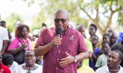 John Dramani Mahama ballot boxes