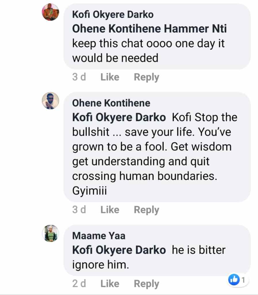 "SCREENSHOTS: ""You've grown to be a fool"" - Kontihene whitewashes KOD 2"