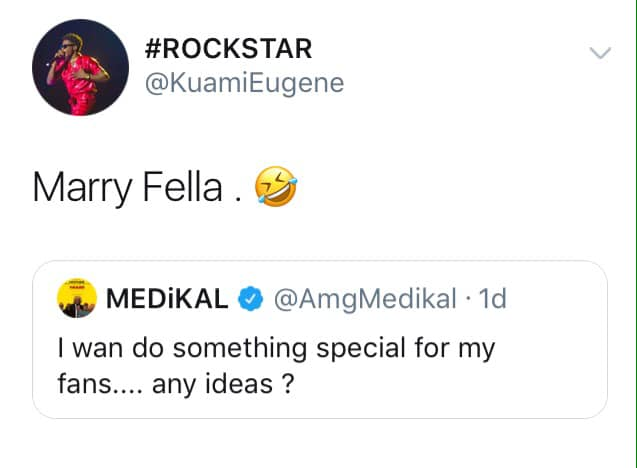 Kuami Eugene advises Medikal to marry Fella fast 1