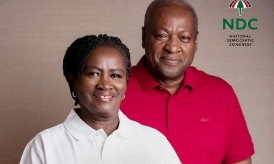 Jane and John Mahama poster