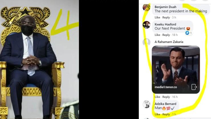 10 Screenshots: NPP loyalists 'invade' Akufo-Addo's Facebook page; demand Bawumia 2024 11