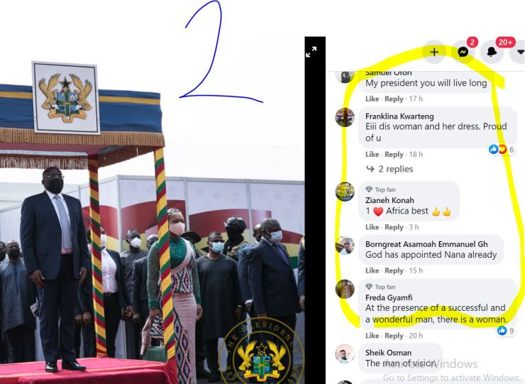 10 Screenshots: NPP loyalists 'invade' Akufo-Addo's Facebook page; demand Bawumia 2024 4