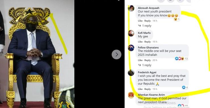 10 Screenshots: NPP loyalists 'invade' Akufo-Addo's Facebook page; demand Bawumia 2024 8
