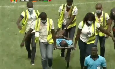 Ghana referee Bulu collapses while officiating Côte d'Ivoire, Ethiopia AFCON qualifier