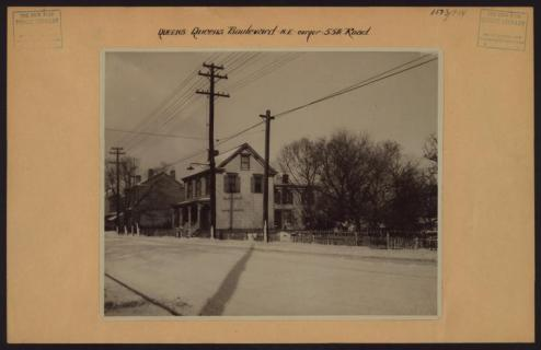 Queens Boulevard at 55th Rd in Elmhurst circa 1920/NYPL Digital Collections