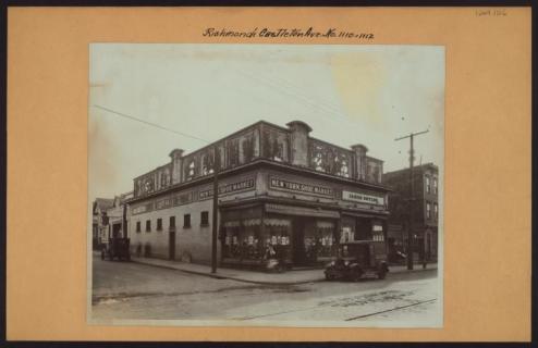 Castleton Avenue at Caroline Street in West Brighton circa 1927/NYPL Digital Collections