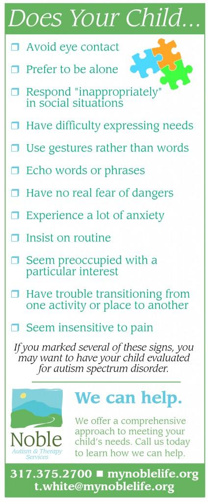 Autism Spectrum Disorder Checklist