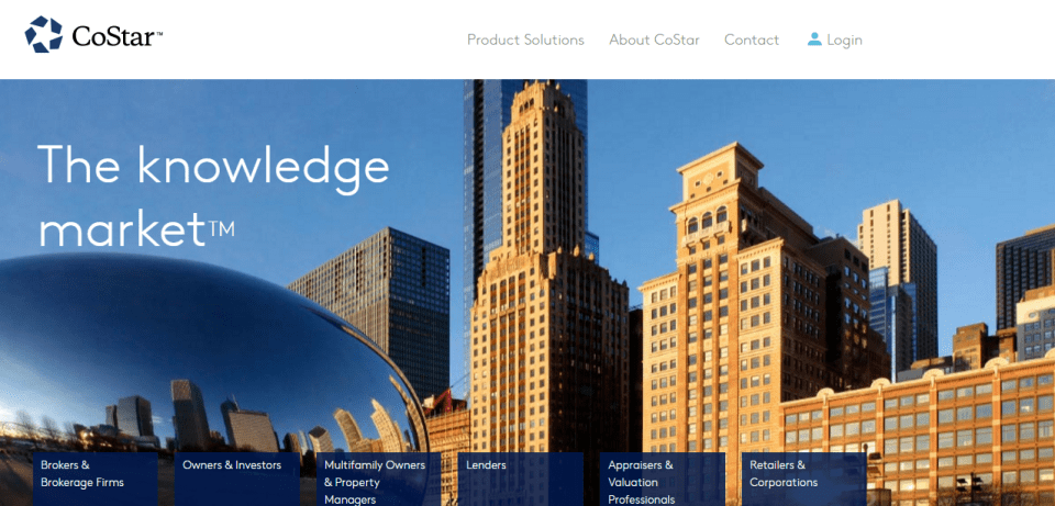 costar Websites to Search for Commercial Real Estate