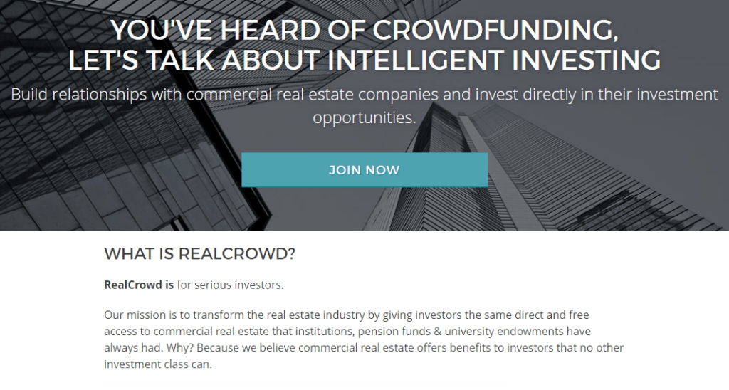 Real Crowd commercial real estate crowdfunding