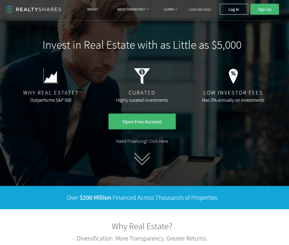 Realty Shares commercial real estate crowdfunding