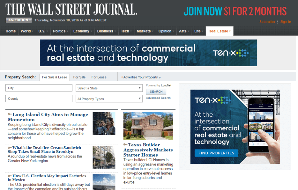 wsj commercial real estate news