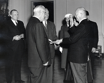 Eisenhower sworn in