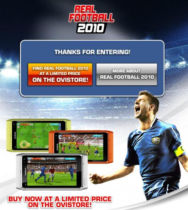 Win a Nokia N8 With Gameloft and Real Football 2010 : My