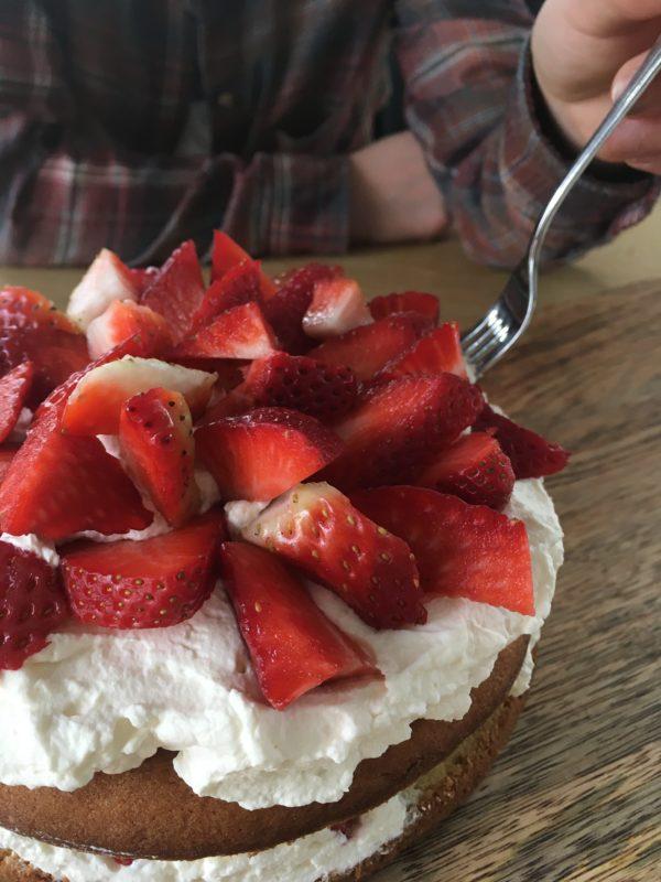Baking Outside The Box – Strawberry Cake