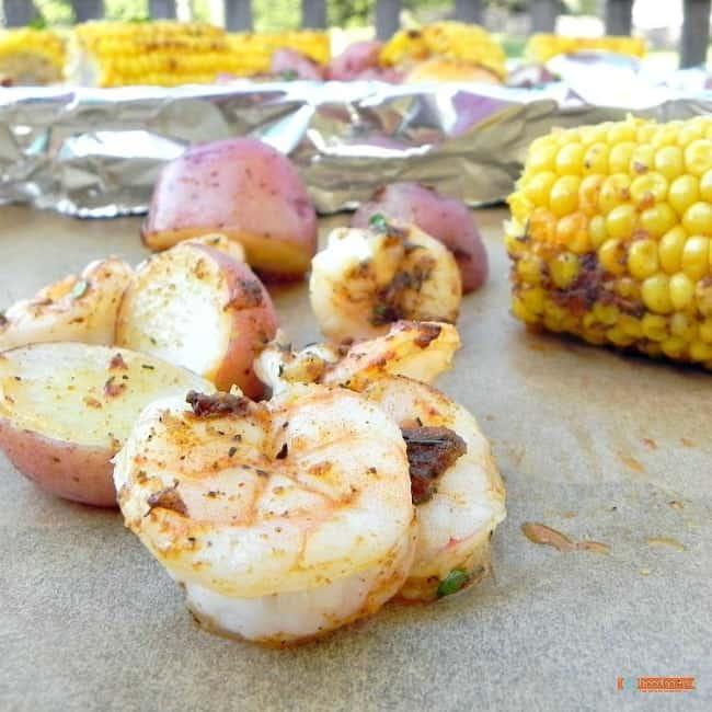 Cajun Butter Shrimp, a one pan dinner