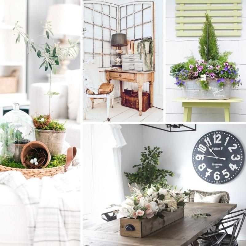 Spring Farmhouse Decor Ideas | My Nourished Home on Farmhouse Decorating Ideas  id=15888