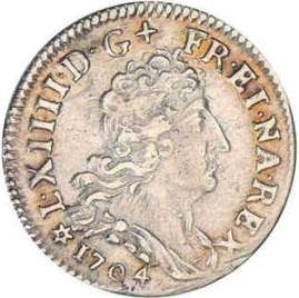 5 sols Ludvig XIV