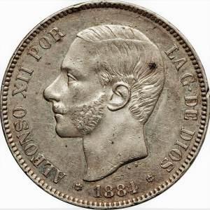 5 pesetas Alfons XII