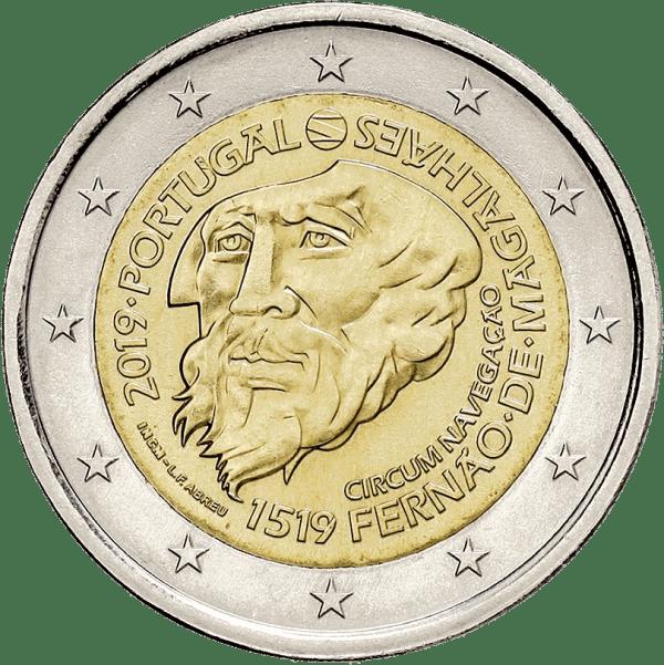 2 euro Ferdinand Magellan jubileumsmynt