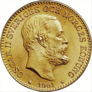 10 Kronor Oscar II guldmynt - Konung av Sverige och Norge