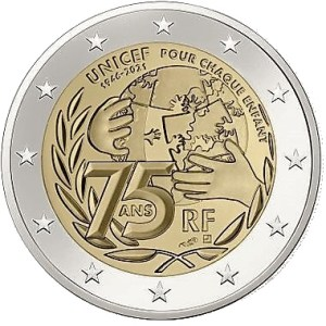 2 euro UNICEF