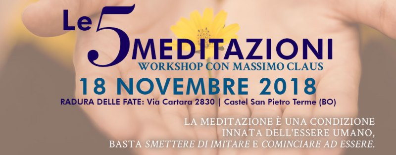 Workshop meditazione Bologna Massimo Claus