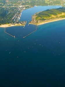 Traverse City MI from the air