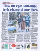 500 Mile Walk Featured in the Daily Express Newspaper